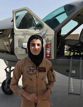 Afghanistan's 1st female pilot Niloofar Rahmani